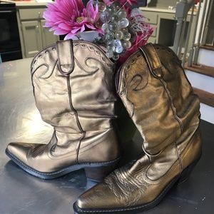 Gold LeatherCowboy Boots - Sz 6
